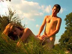 Geiles Amateurpaar poppt Outdoor